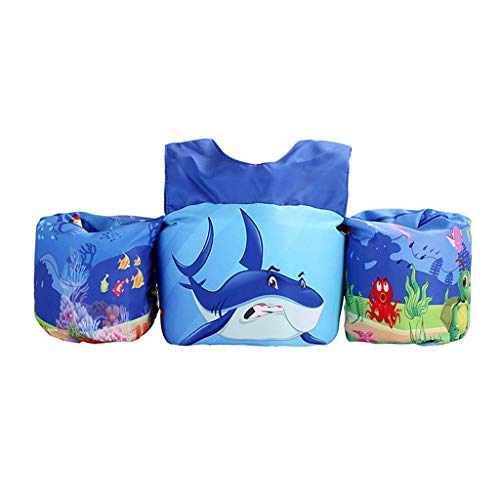 HomDSim Kids Puddle Jumper Swimming Float Vest Kids Swim Training Jacket Toddler Pools Water Fun (New Shark)