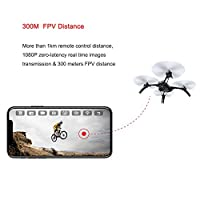MJX Bugs 5W B5W GPS FPV RC Drone with Camera Live Video and GPS Smart Return Quadcopter with 5.8G 1080P HD WiFi Camera and Follow Me Altitude Hold Headless Mode Track Flight, Point of Interest Flying from Teeggi