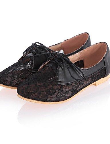 Bout Eu37 Travail Talon Chaussures Bureau us6 Cn37 amp; Beige Black 5 Confort Arrondi Extérieure 5 Njx Habillé Uk4 Femme Plat 5 Blanc 7 Décontracté Noir XxP6RWqw