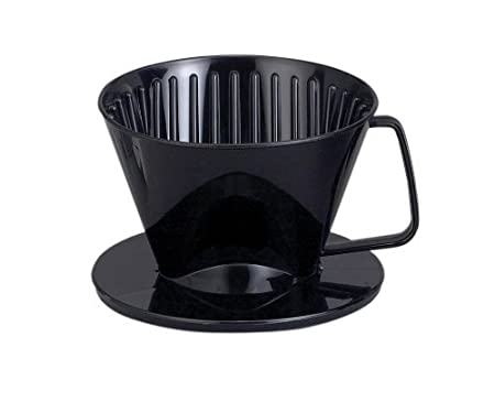 Harold Import 2661 Coffee Filter Cone, Brews 1 to 2-Cups, Black, Number 1-Size HIC Harold Import Co.