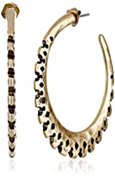 Lucky Brand Gold-Tone Textured Hoop Earrings