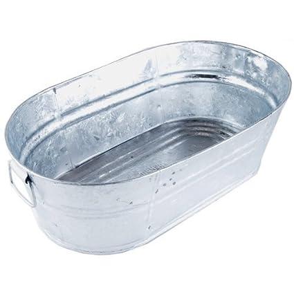 Amazon.com: Galvanized Oval Wash Tub, 3.7 Gal: Home Improvement