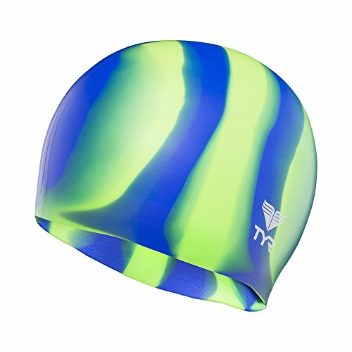 TYR Multi Silicone Cap, Green