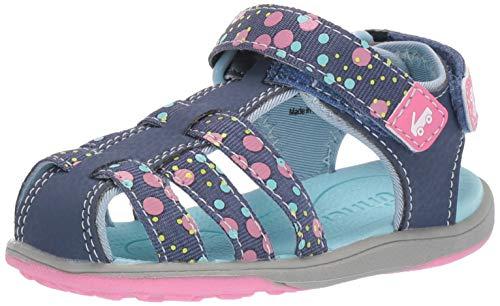 See Kai Run Girls' Paley II Webbing Sport Sandal, Dark Blue, 2Y M US Little Kid (Girls Easter Shoes)