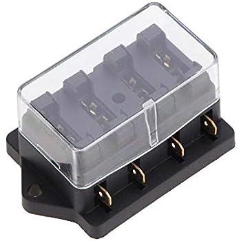 Car 10 Way Pin Circuit Standard Blade Fuse Box Block Holder Plug Socket 12V 24V