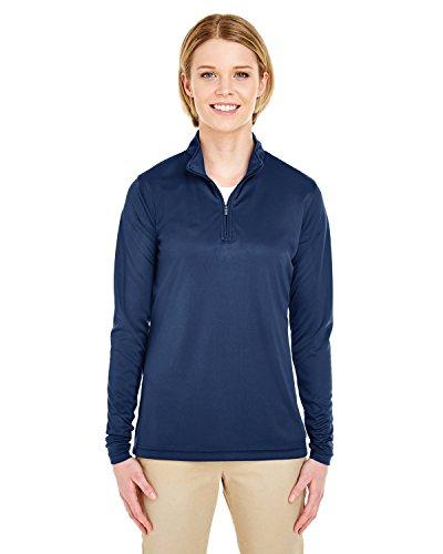 Ultraclub Ladies Sport Performance Interlock 1/4 Zip Pullover, NAVY, Medium
