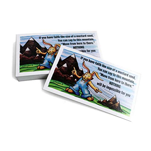 Mountain Move Inspirational Pocket Card 100 Pack Mustard Seed
