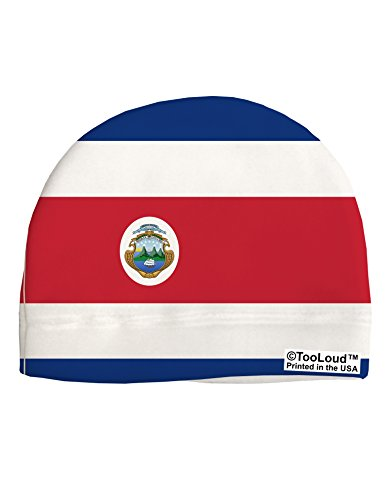 TooLoud Costa Rica Flag AOP Adult Fleece Beanie Cap Hat All Over - Costa Sale Hats For
