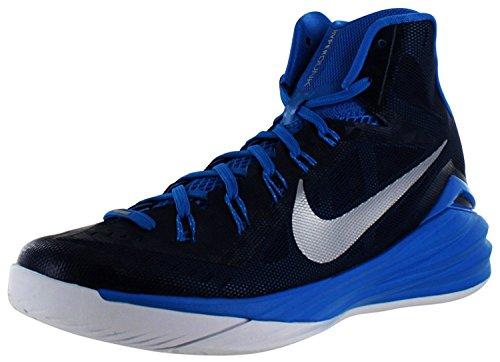 Nike Men's Hyperdunk 2014 TB Midnight Blue/Mttlc Slvr/Pht Bl/W Basketball Shoe 12 Men US