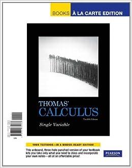 Thomas' Calculus, Single Variable, Books a la Carte Edition price comparison at Flipkart, Amazon, Crossword, Uread, Bookadda, Landmark, Homeshop18