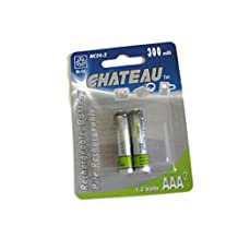 2 Rechargeable Batteries, 1.2v, piles rechargeable AAA