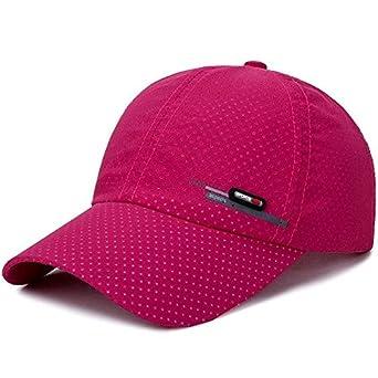 ebcf7838abe Xuba Cymenwang Fashion Women Baseball Caps Men Breathable Hole Women Sports  Snapback Male Cap Brim Hiphop Fast Drying Fittid Hats red Adjustable   Amazon.in  ...