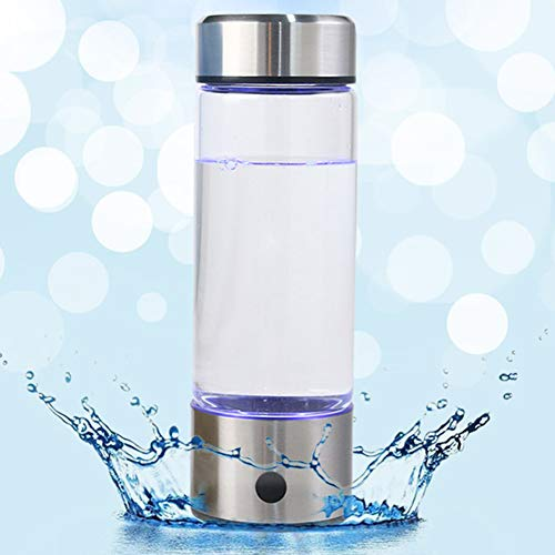LFJNET 420ML Portable Electrolysis Hydrogen Generator Water Filter Bottle Glass