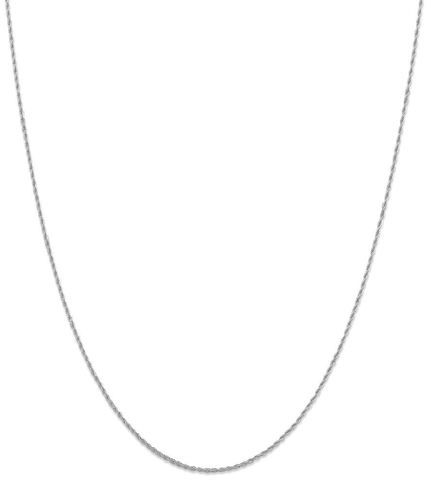 ICE CARATS 14k White Gold 1.3 Mm Pendant Charm Necklace Rope Chain Fine Jewelry Gift Set For Women Heart