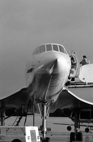 Photograph Air France Concorde supersonic passenger aircraft