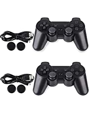 PS-3 Controller, Wireless PS-3 Controller Double Vibration Game Remote Control Joystick Joypad for PS-3 with Charger Cable (2-Pack)