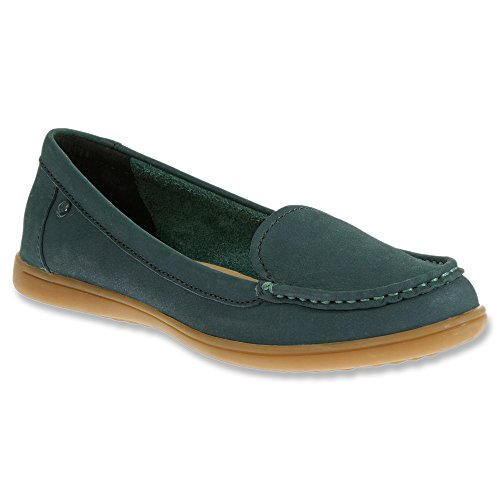 Hush Puppies Womens Ryann Claudine Slip-On Loafer Medium Blue Nubuck B5o1FG