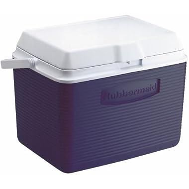 Rubbermaid Cooler / Ice Chest, 24-quart, Blue