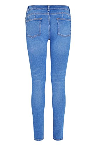 next Mujer Vaqueros Pitillo Estilo Vintage Auténtico Reg/Largo/Xl Alto Azul Brillante