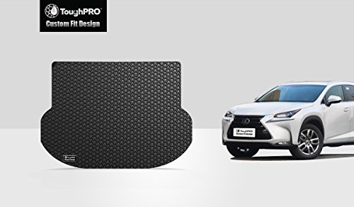 ToughPRO Cargo/Trunk Mat Compatible with Lexus NX200t NX300h - All Weather - Heavy Duty - (Made in USA) - Black Rubber - 2015, 2016, 2017, 2018, 2019, 2020