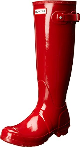 Gloss Red Womens Shoe (Hunter Women's Original Tall Rain Boot,Military Red,6 B(M) US)