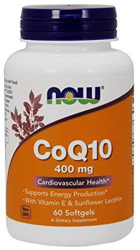 NOW Foods Coq10 400mg, 60 Softgels