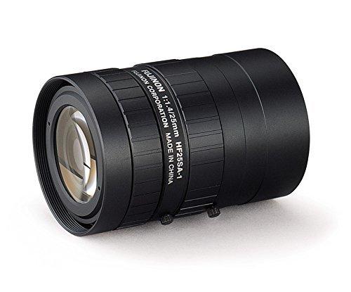 "Fujinon HF25SA-1 2/3"" 25mm F1.4 Manual Iris C-Mount Lens, 5"