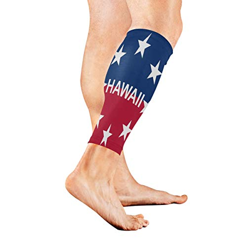 Leg Sleeve Governor of Hawaii Calf Sleeves 1 Pair for Men/Women Running/Cycling/Maternity/Travel/Ourdoor Activities ()