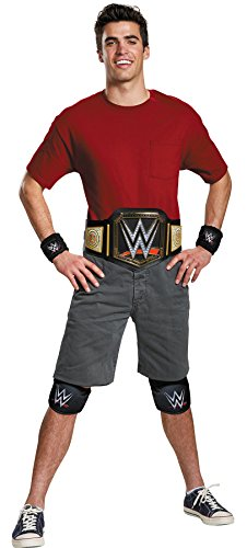 Disguise Men's WWE Championship Belt Adult Costume Kit, Multi, One Size