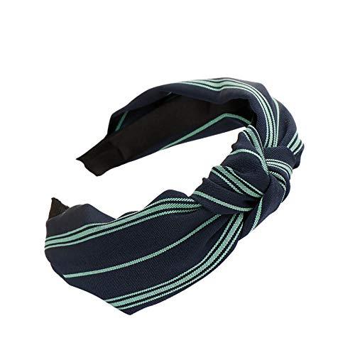 GLVSZ Women Girls Handmade Wide Cloth Cross Knot Hair Hoop Hairband Headband Headwear Hair Accessorie Green