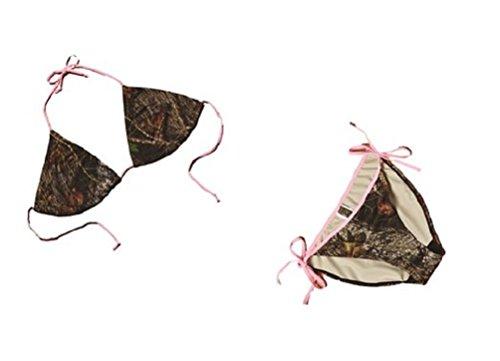 Mossy Oak Womens 2pc Pink String Bikini Swimsuit Set Large