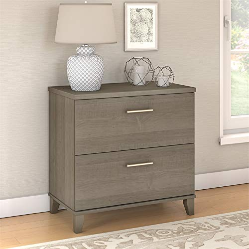 Bush Furniture Somerset Lateral File Cabinet in Ash Gray