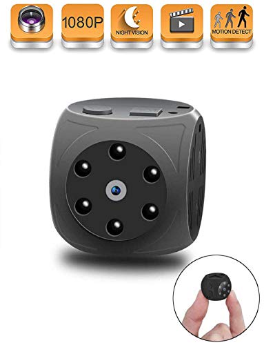 Hidden Camera, WONEIRA Mini 1080P Spy Camera Nanny Cam Cop Cam Car Camera with Night Vision and Motion Detection for Home,Car,Pet, Baby,Drone and Office?2019 Upgraded?
