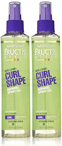 Garnier Fructis Curl Shape Spray Gel, Strong Hold, 8.5 oz, 2 pk (8.5 Ounce Spray Gel)