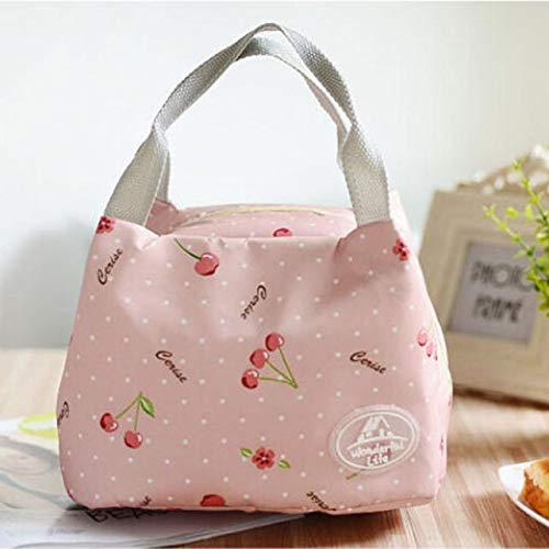 Jessie storee-Lunch Bag Polka Dot Reusable Insulated Lunch Box Lunch Cooler Trapezoid Convenience Container Bag Durable Leakproof Picnic Bags for Men Women Work School Outdoor, Pink A (Best Cooler In The World)