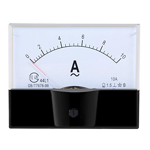 uxcell AC 0-10A Analog Panel Ammeter Gauge Ampere Current Meter 44L1 1.5 Error Margin (Ammeter Ac Analog)