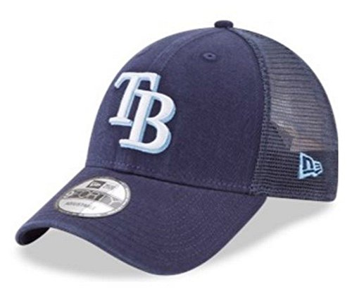 New Era MLB Tampa Bay Rays Baseball Hat Cap 940 Trucker Snapback 11591190 Navy -