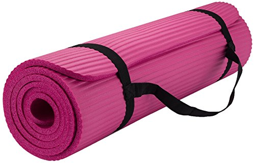 """Yoga Mat, with Carrying Travel Bag and Strap 2/5"""" Thickness(72""""x24"""") Thick NBR Multiple Use Exercise and Yoga Mat"""