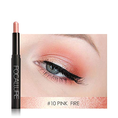 Pro 12 Colors Eyes Makeup Liner Combination Eyeshadow Pencil Sticker Easy To Wear Long Lasting Shimmer 10