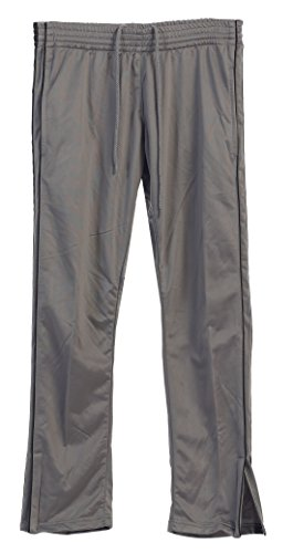 Gioberti Men's Athletic Track Pants, Silver, (Athletic Warm Up Pants)