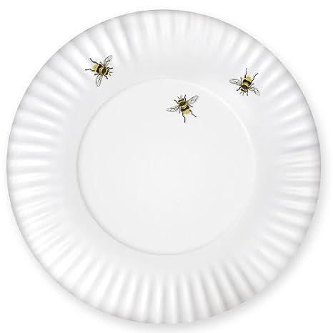 Mary Lake-Thompson Bee Melamine Dinner Plates Set of 4  sc 1 st  Amazon.com & Amazon.com | Mary Lake-Thompson Bee Melamine Dinner Plates Set of 4 ...