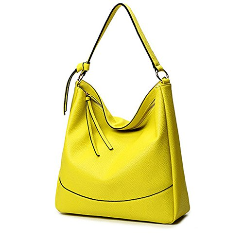 Handle Bags Women Leather Bags Purse Satchel Messenger Tote Yellow Shoulder Bag Lemon PU Handbags Top UYwqzAU