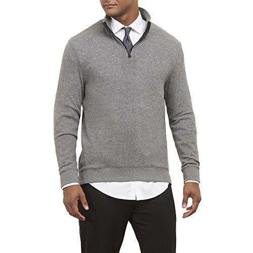 - Kenneth Cole New York Quarter Zip Pullover Sweatshirt - Comfort Knit