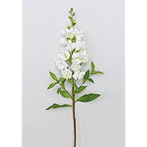 "Artificial White Snapdragon Flowers - 25"" Tall 7"