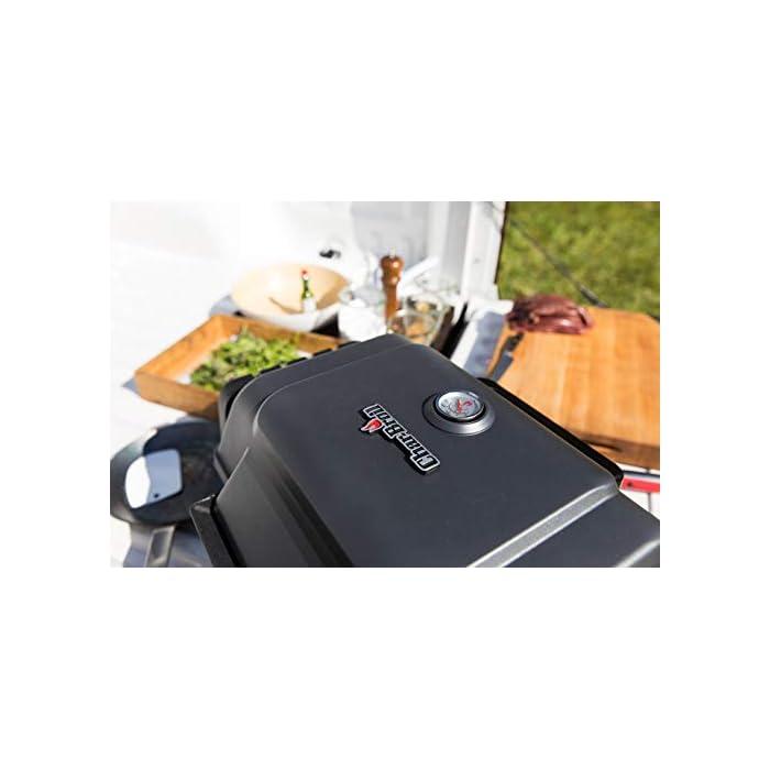 41jm2zpkKmL TRU-Infrared Sistema de cocción: cocina los alimentos uniformemente, con menos llamaradas, para que sean un 50 % más jugosos consumiendo un 30 % menos de gas. Quemador de acero inoxidable: fuerte, resistente y hecho para durar. Encendedor electrónico: enciende la barbacoa con solo pulsar un botón.