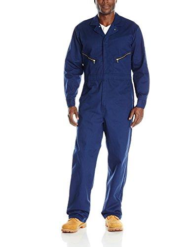 Red Kap Men's Zip-Front Cotton Coverall, Navy, -