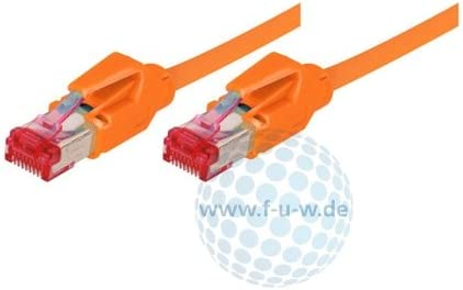 Orange S//FTP, PiMF, EIA//TIA, Class EA, 30 m Tecline 71830A Category 6A Ethernet Patch Cable