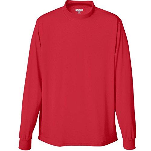 Augusta Activewear Wicking Mock Turtleneck, Red, Medium ()