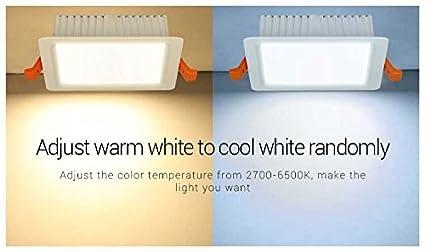 RGB 3374 Mi-Light Plaf/ón empotrable Wi-Fi RGB+CCT 18W impermeable KingLed CCT FUT065 cod