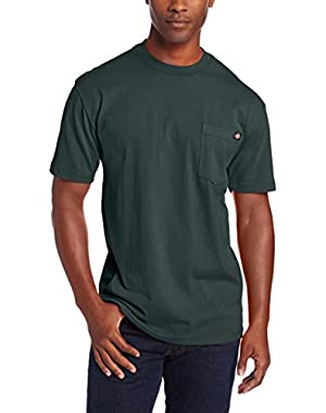 Men's Big-Tall Heavyweight Crew-Neck Short-Sleeve Pocket T-Shirt
